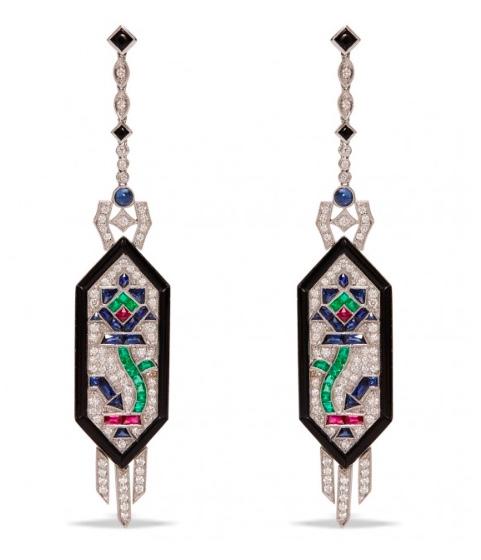 Nina Runsdorf Deco Style Earrings
