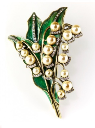 Heidi Daus Lily of the Valley Pin