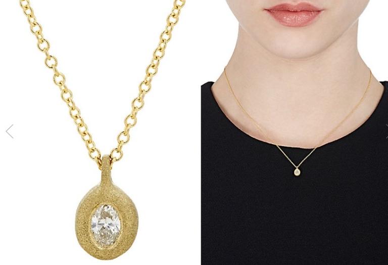Tate diamond and gold pendant
