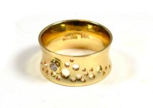 Jason McCloud Flared Diamond Bubble Ring