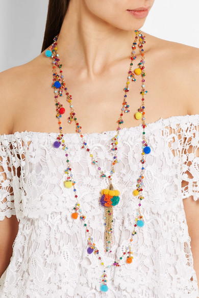 Rosantica Cancun Pompom Necklace