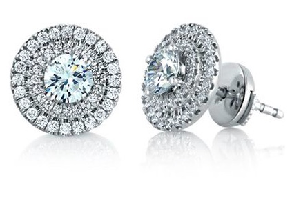 Sirli + Siroan Halo diamond earrings