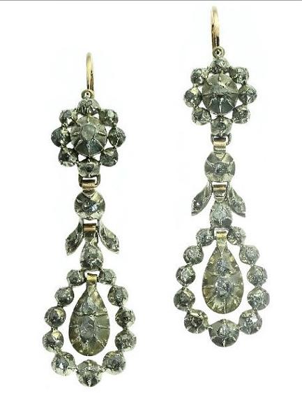 Adin Antique Jewelry Diamond Drops