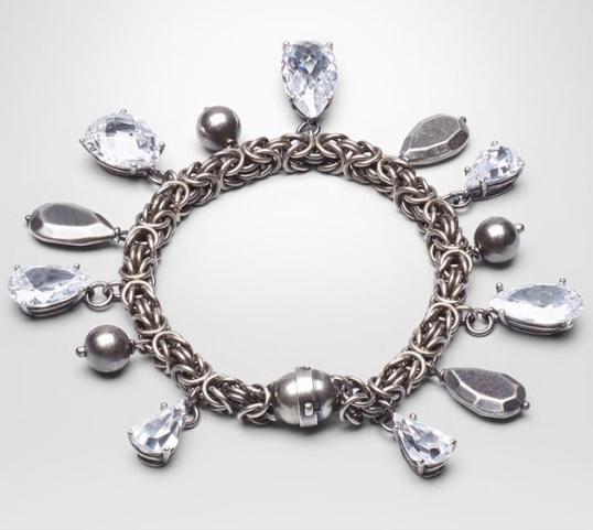 Bottega Veneta Sterling and Stone Bracelet