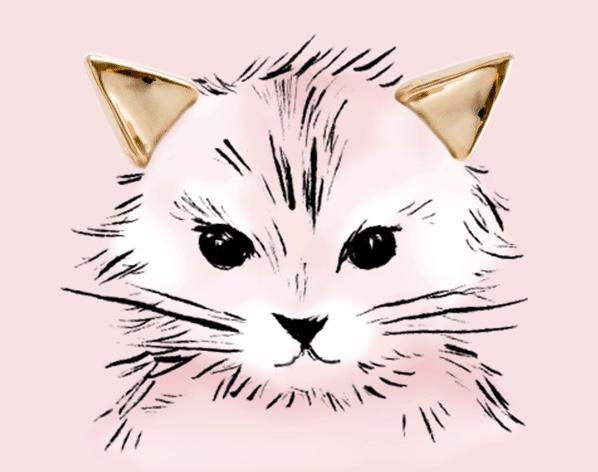 Kitten Ear stud