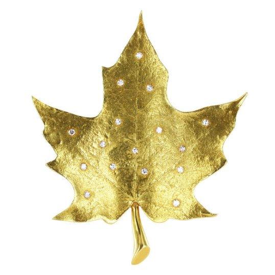 Tiffany Maple Leaf brooch