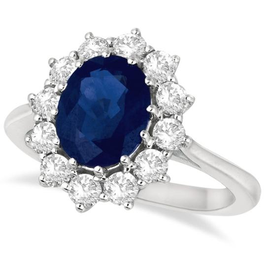 Allurez Oval Blue Sapphire Ring