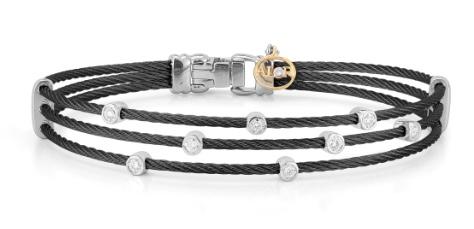 Alor Noir three strand bracelet