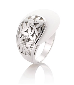 Breuning Corian and Silver ring