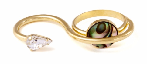 Lady Grey Torsion Ring