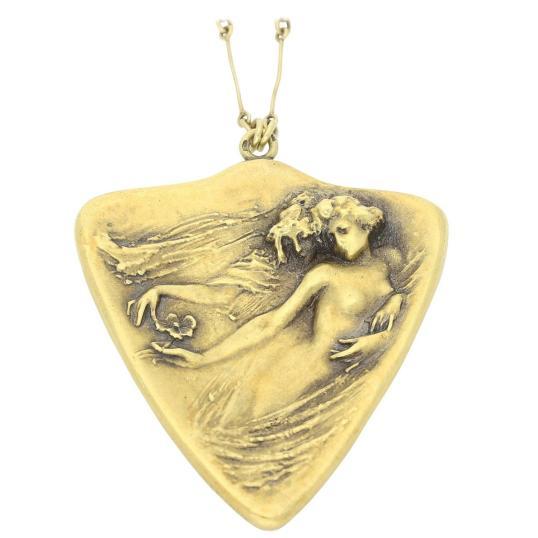 Lalique Gold Pendant