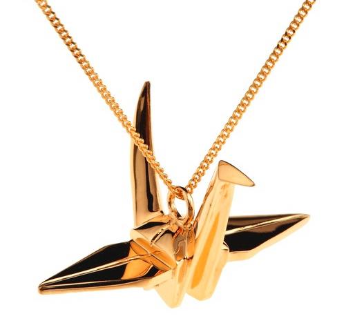 Origami Jewellery Crane Necklace