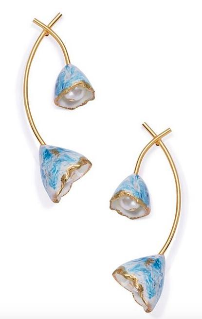Tory Burch Flower Bud Earrings