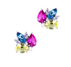 Oscar Heyman multicolor earrings