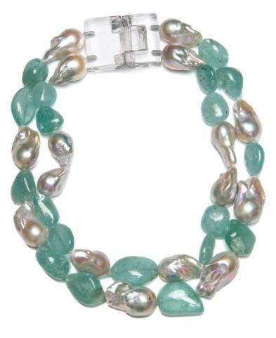 Patricia Von Musulin Aquamarine and Pearl Necklace
