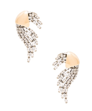 Saint Laurent Rubans Clip Earrings