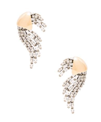 Saint Laurent Rubans Clip Earrings