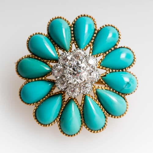 antique-victorian-turquoise-brooch