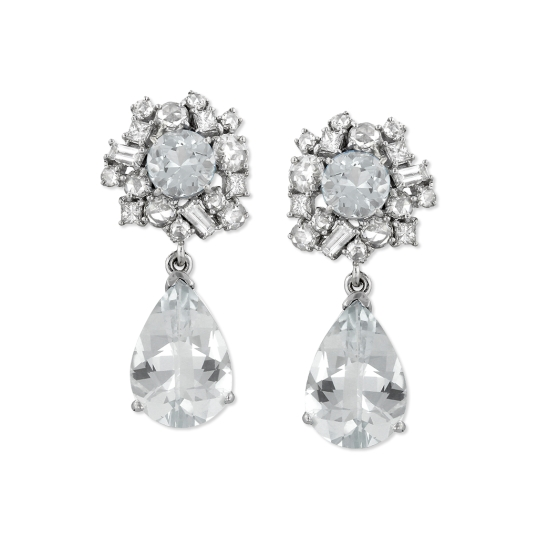 Ashley Morgan Starburst Cluster Drop Earrings